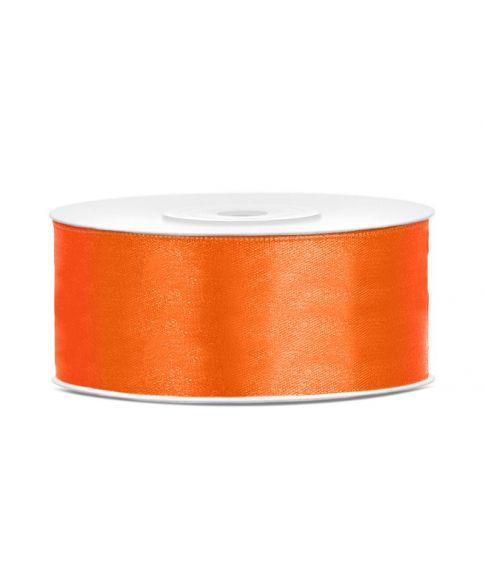 Orange satinbånd 25mm