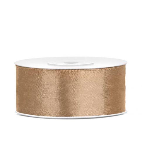 Lys guld satinbånd 25mm