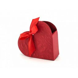 Gaveæske Hjerte med rødt bånd