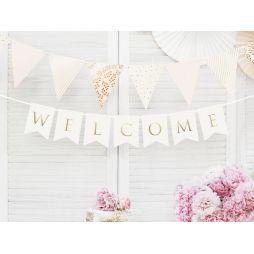 Banner Welcome hvid