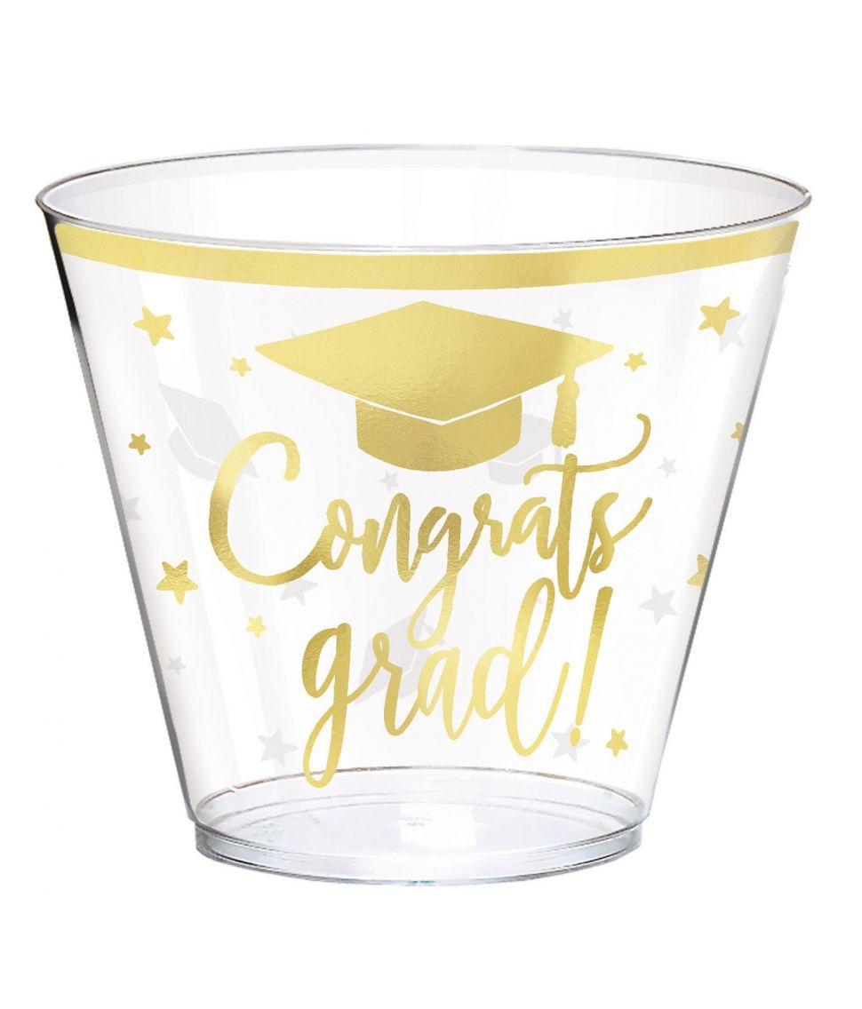 Graduate Guld plastik krus 30 stk