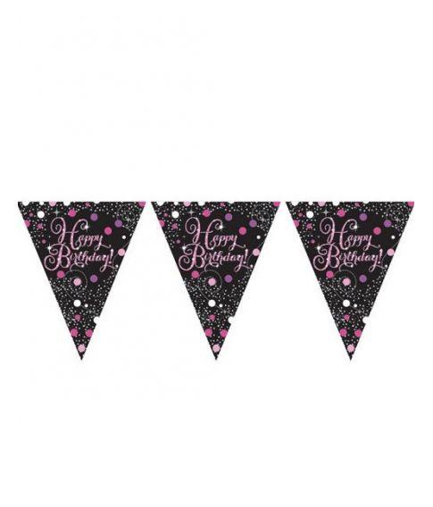 Flot pink fødselsdagsguirlande