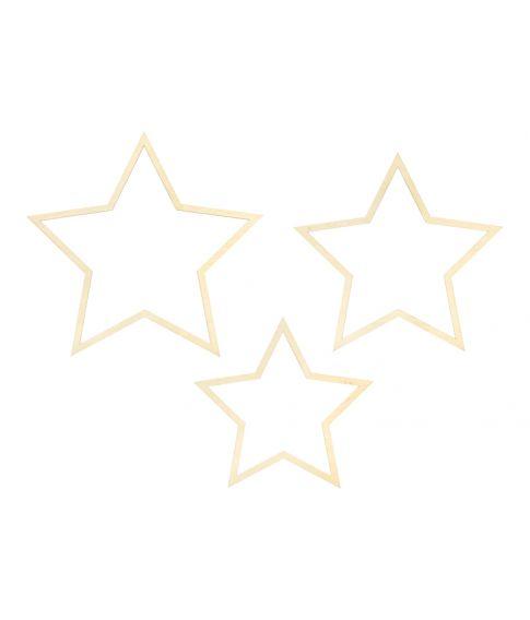 Træ stjerner 3 stk