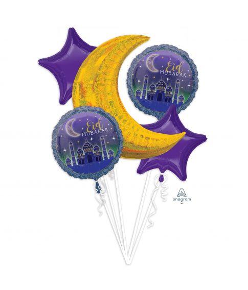 Flot sæt med EID folieballoner
