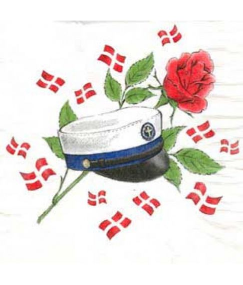 Student servietter, blåt bånd