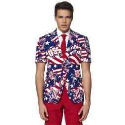 Køb flot OppoSuit sommer jakkesæt med USA tema til 4. juli.
