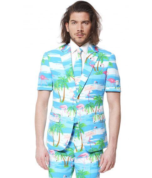 Flot sommer jakkesæt med flamingoer til kun 569,-