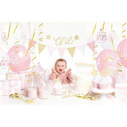 33 deles dekorations sæt til første fødselsdag