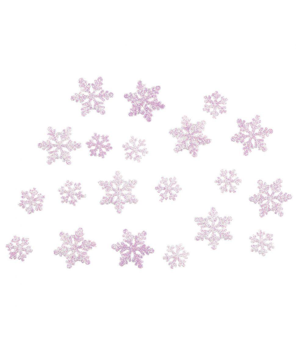 20 stk. Frozen Snowflake konfetti