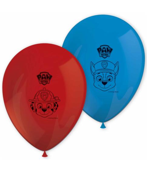 Paw Patrol latex balloner 8 stk