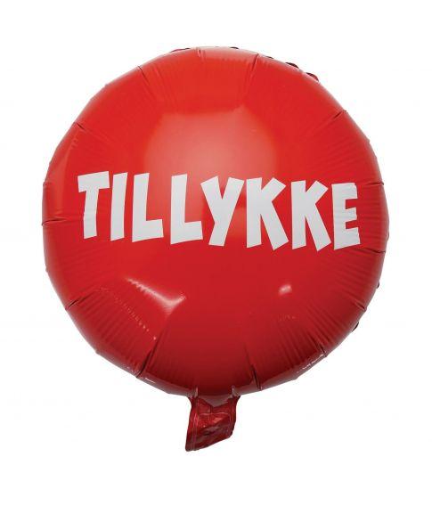 Folieballon rød Tillykke 35 cm