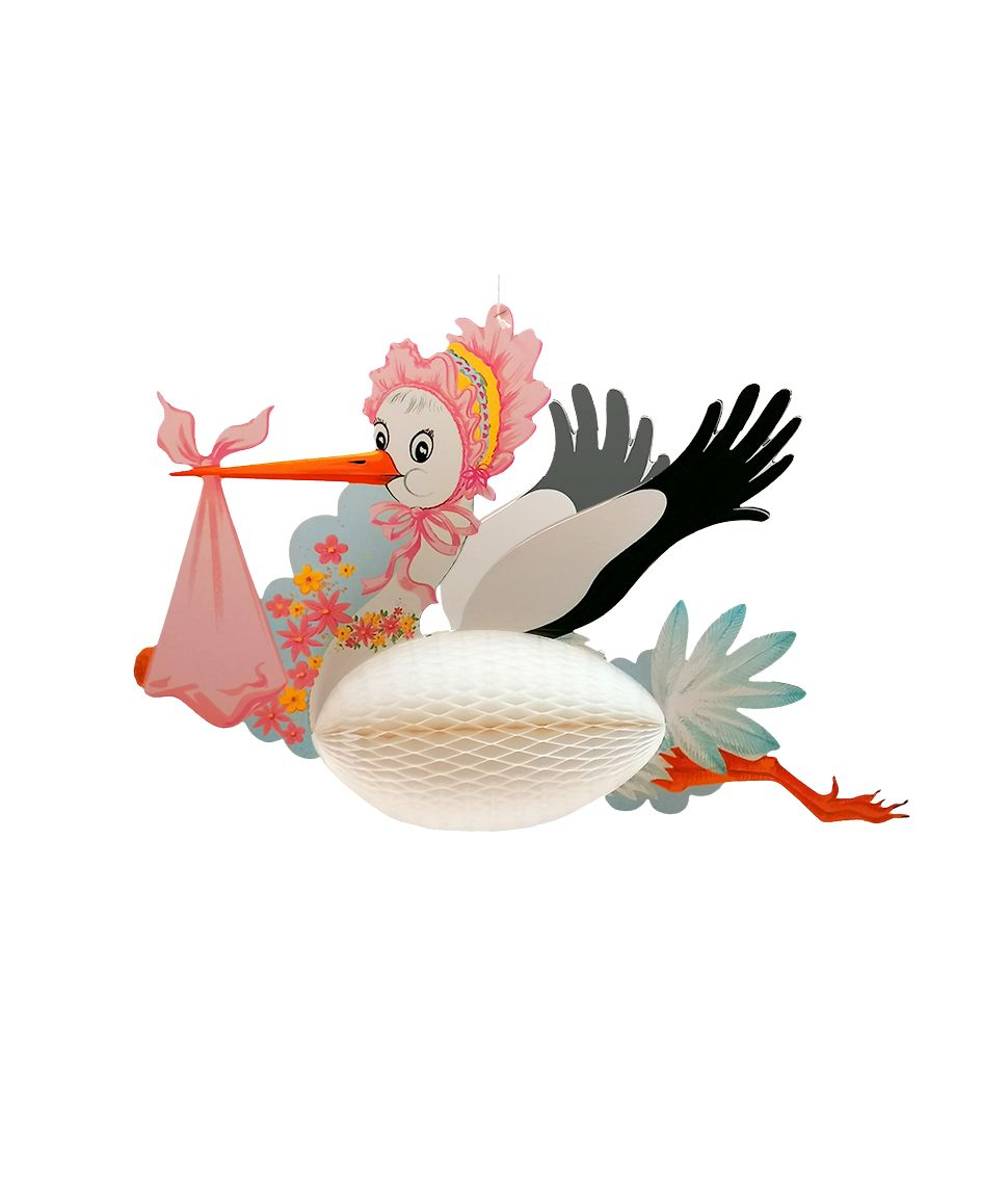 Hængende Stork, lyserød