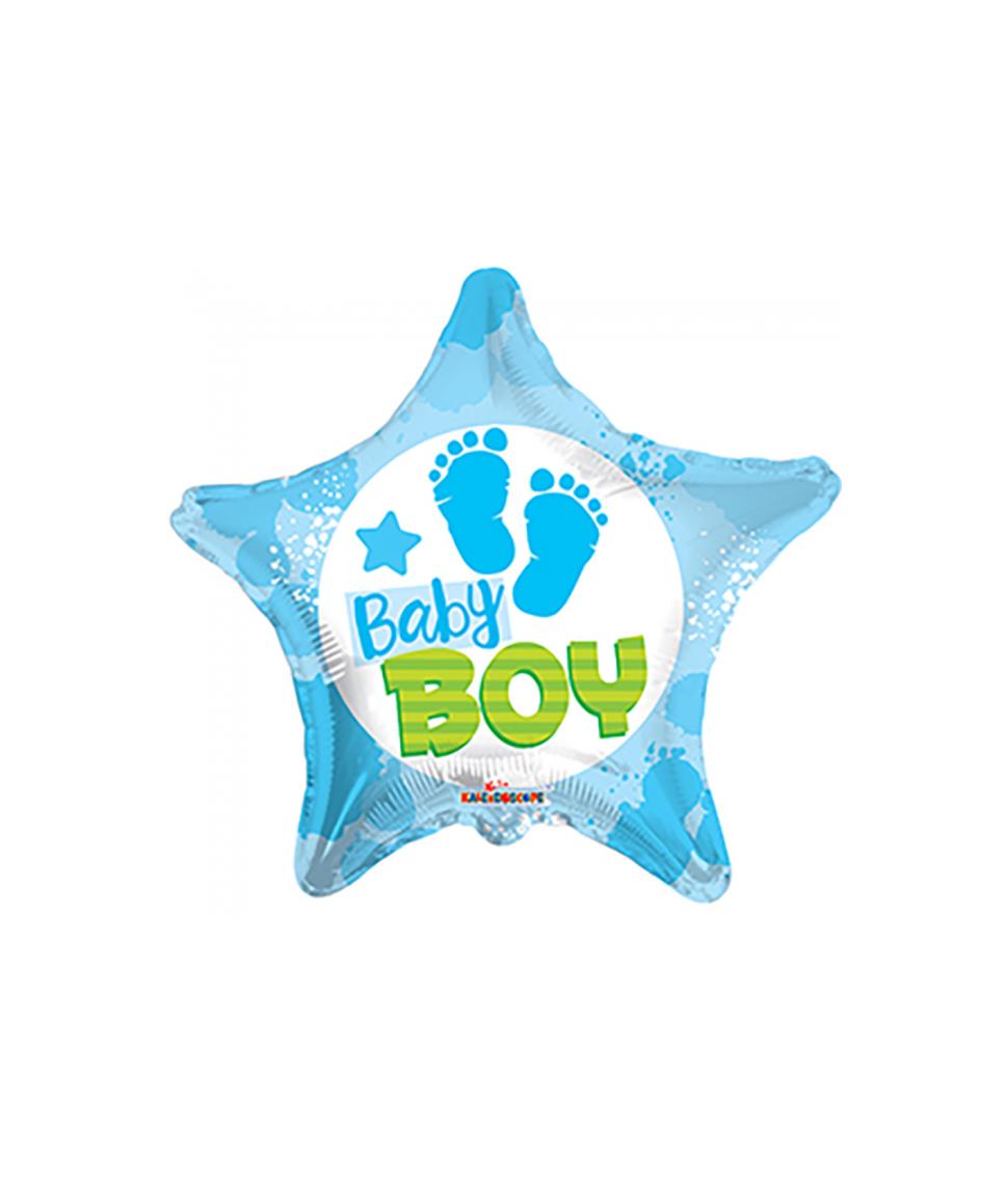 Folieballon Baby Boy stjerne, 46 cm