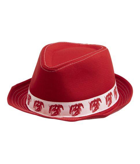 Flot rød hat til det stort Krebsegilde.