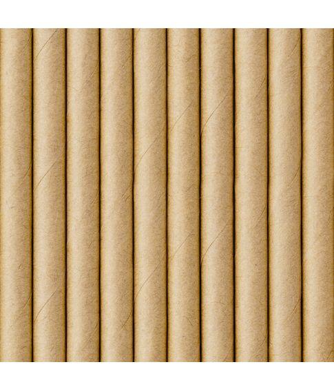 Papir sugerør natur, 10 stk.