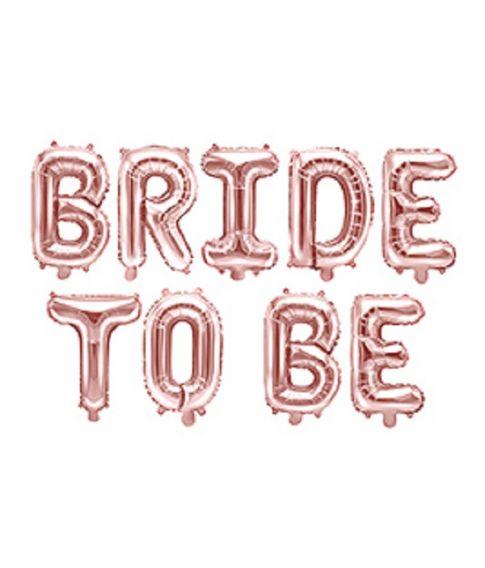 Rose Gold folieballoner Bride to Be