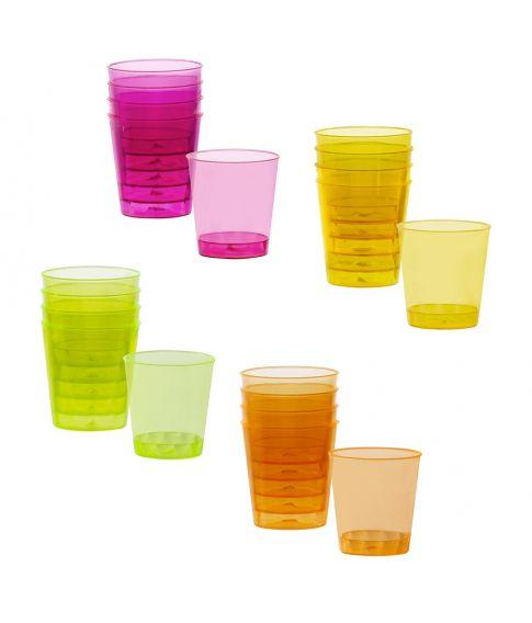 shotglas 20 stk., 4 farver
