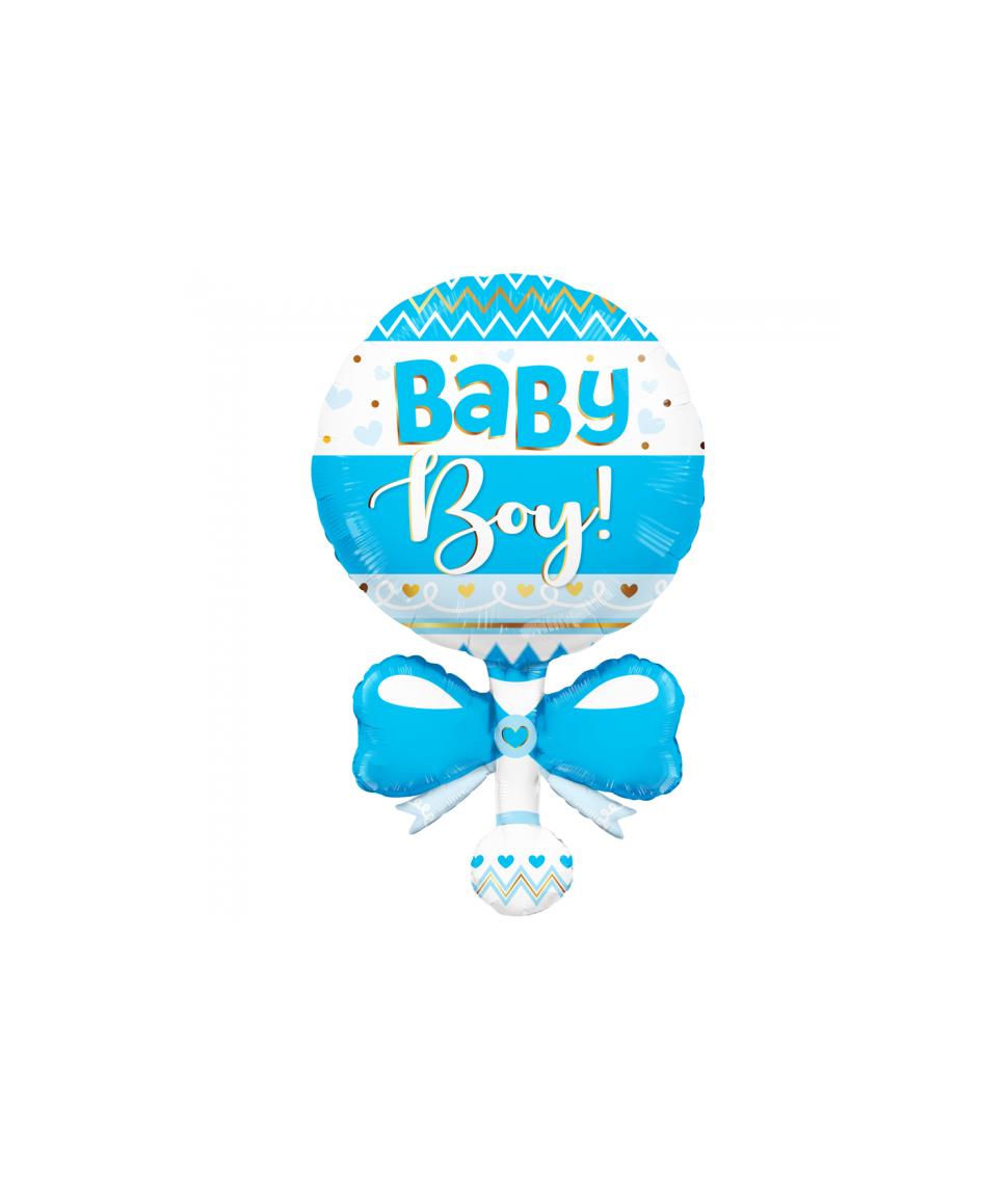 Folieballon Baby Boy rasle, 91,4 cm