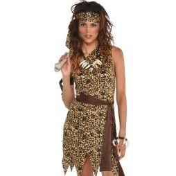 Flot Huledame kostume med kjole og pandebånd.
