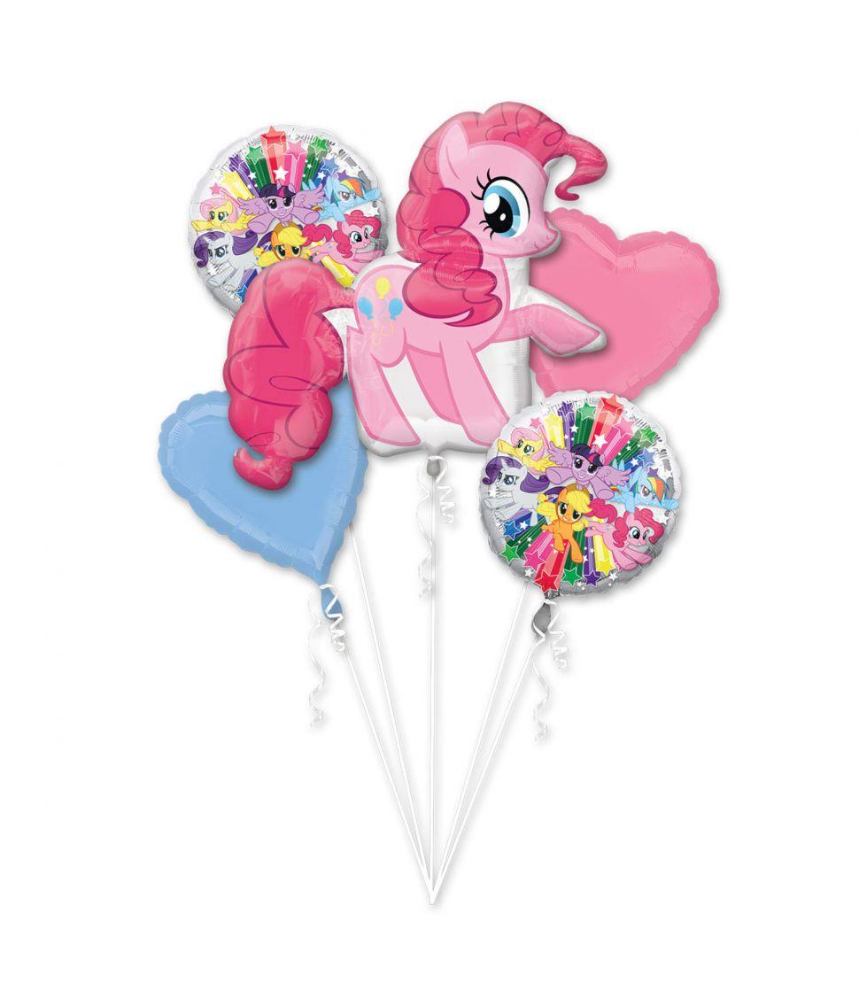 5 stk flotte folie balloner med My Little Pony.