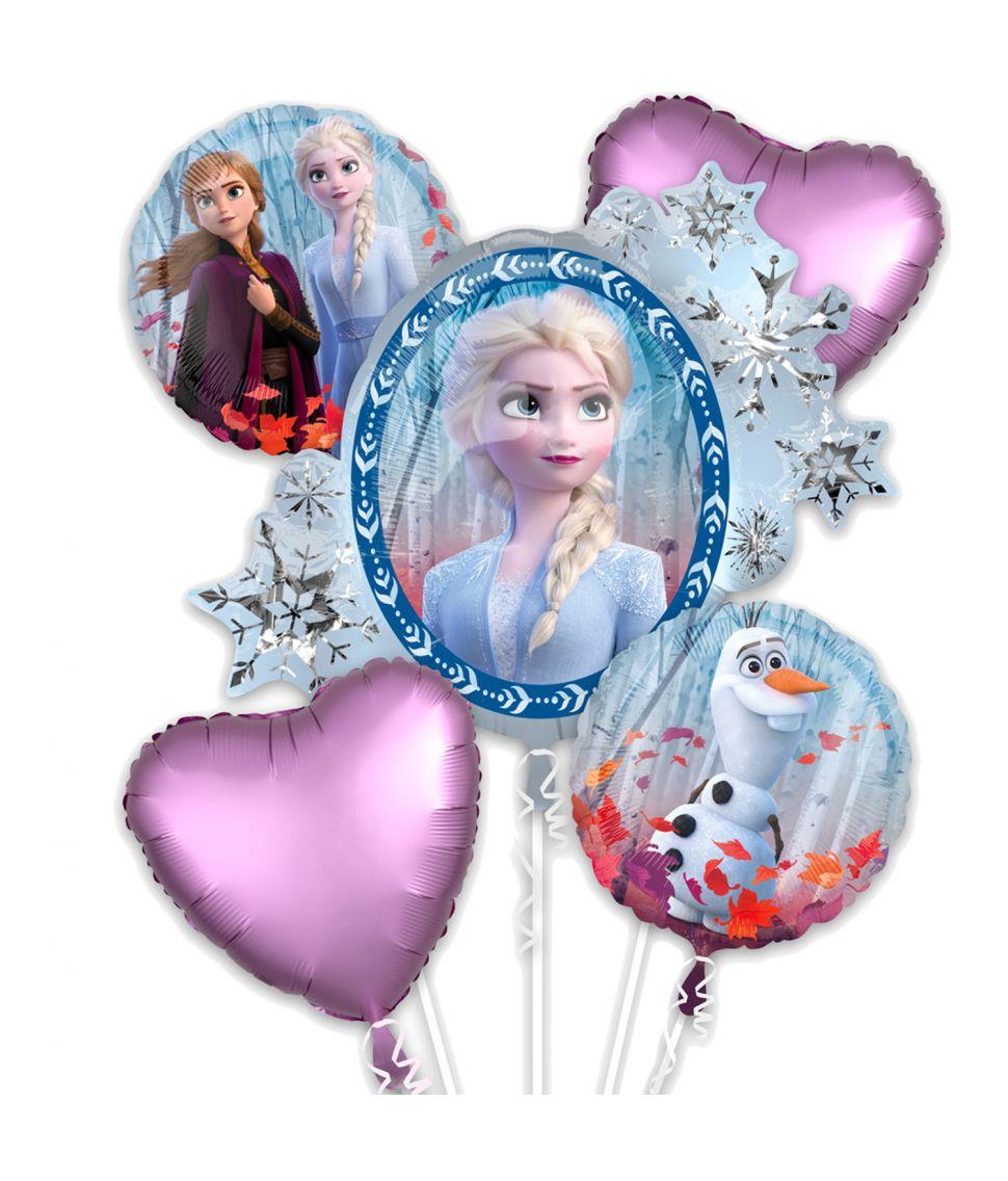 5 stk flotte folie balloner med Frost 2.