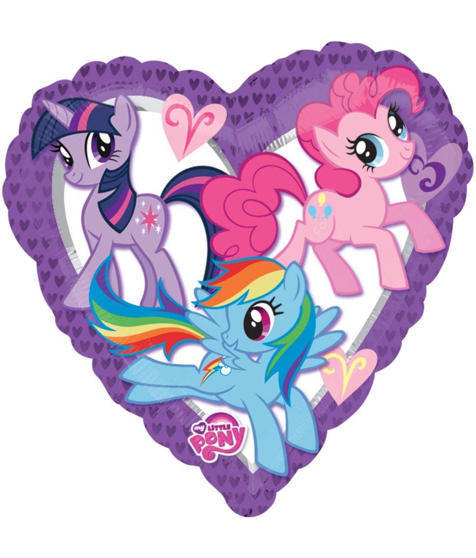 Flot hjerte folie ballon med My Little Pony.