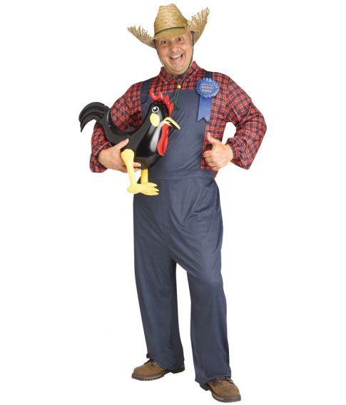 Sjovt Farmer kostume med smækbukser