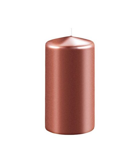 Bloklys metal Kobberbrun, 5x10 cm