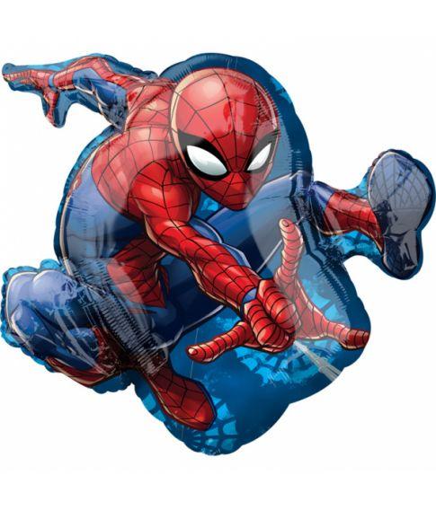 Stor Spiderman figur folieballon til luft eller helium