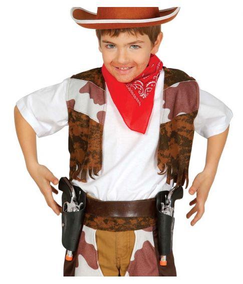 Pistolbælte med to hylstre og revolvere, til børn