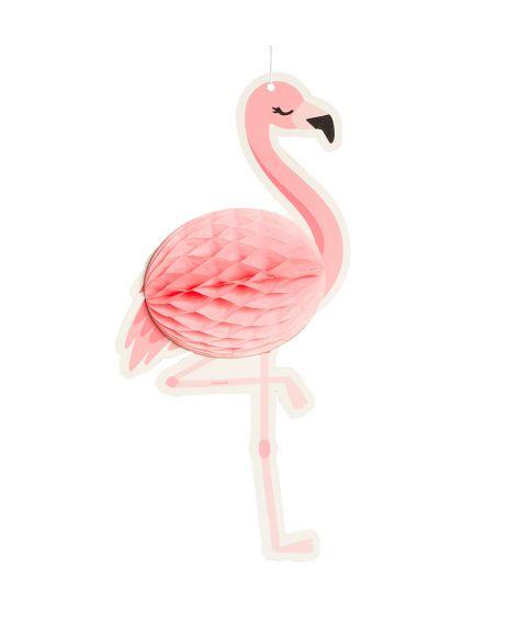 Flamingo papirvæv dekoration til ophæng