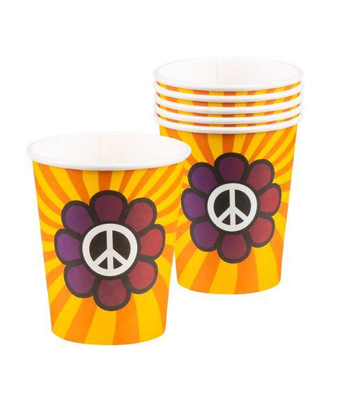 6 stk. papkrus til 60er hippiefesten