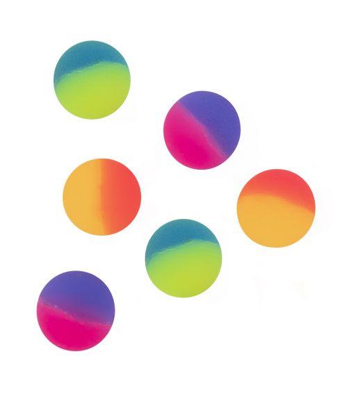 6 stk hoppebolde i forskellige farver