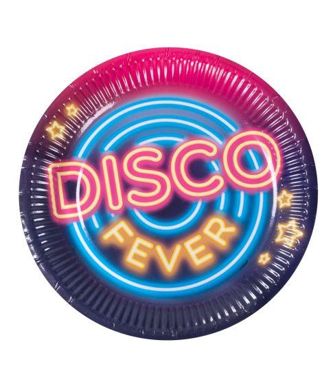 Disco fever tallerkner, 23 cm