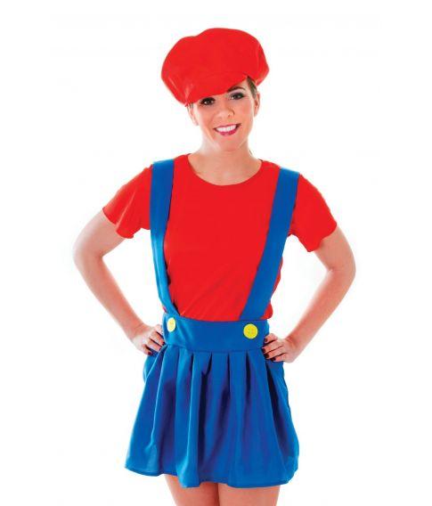 Billigt Super Mario kostume til damer.