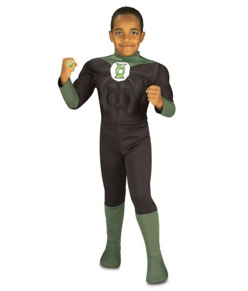 Grøn Lanterne kostume til børn