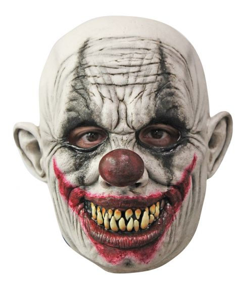 Uhyggeligt klovnemaske i latex fra Ghoulish Production.