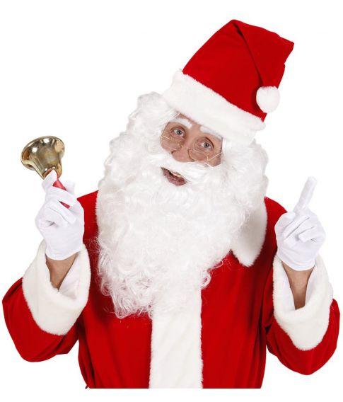 Hvidt julemands fuldskæg.