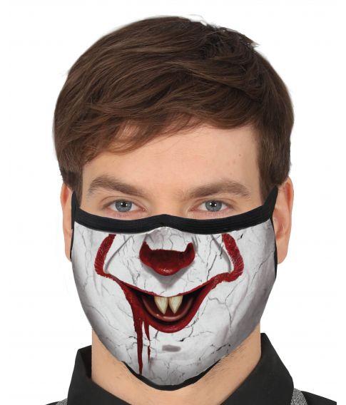 Flot mundbind med Pennywise motiv til halloween udklædningen.