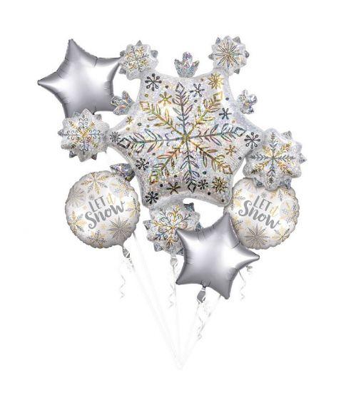 Let it Snow folieballon buket