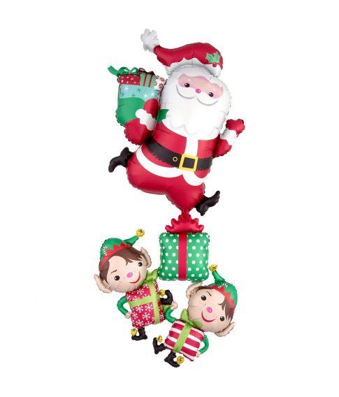 Folieballon Julemand med alfer