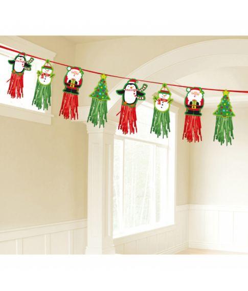Guirlande med julefigurer