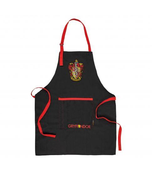 Flot Gryffindor forklæde med lomme til tryllestaven.