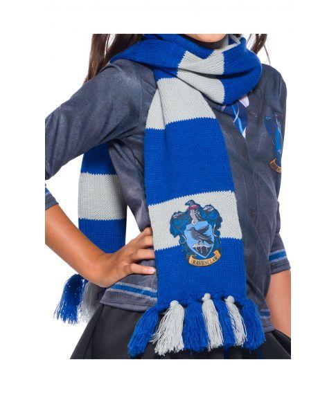 Ravenclaw halstørklæde i strik med emblem.