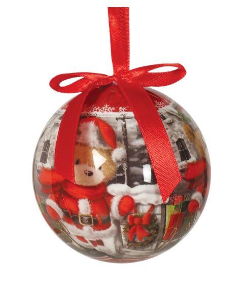 Flotte julekugler med bamser til juletræet.