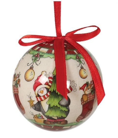 Flotte julekugler med pingviner og bamser til juletræet.