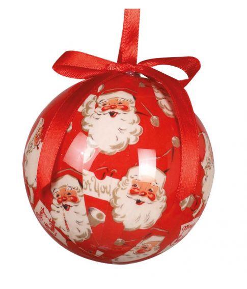 Flotte julekugler med julemanden til juletræet.