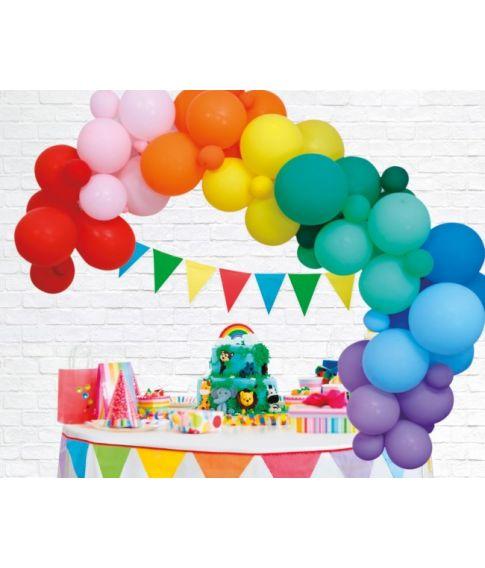 Ballon dekorationssæt, regnbue
