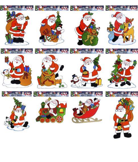 Flot julemands sticker som ligner glasmaling at at sætte på vinduet.