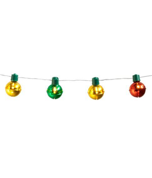 Flot LED lyskæde med 10 julekugler.